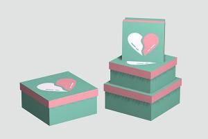 gift box for men or women paper box storage box10027