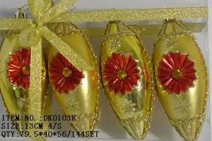 Manufacturer for Christmas gift box - Christmas gift christmas glass ball factory wholesale glass ball christmas ornament10128 – Kingstone